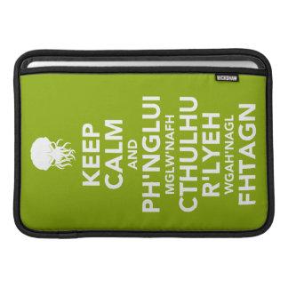 Keep Calm and Fhtagn MacBook Air Sleeves