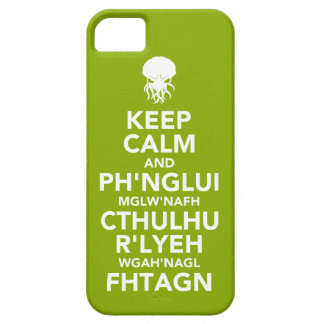 Keep Calm and Fhtagn iPhone 5 Cover