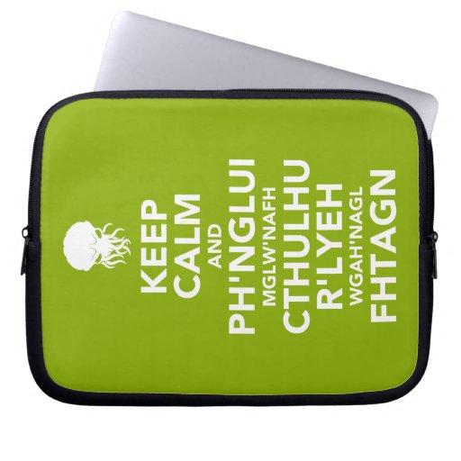 Keep Calm and Fhtagn Laptop Sleeve
