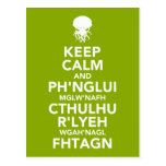 Keep Calm and Fhtagn Post Cards