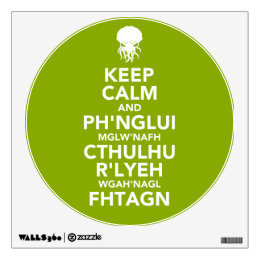 Keep Calm and Fhtagn Wall Decal
