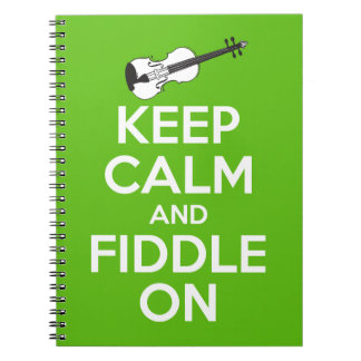 Keep Calm and Fiddle on (Green) Notebook