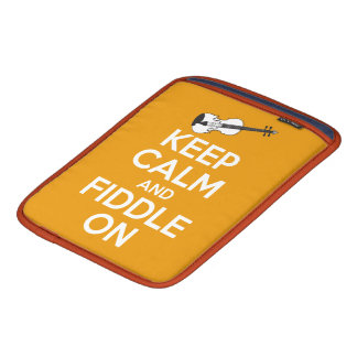 Keep Calm and Fiddle On Orange Sleeves For iPads