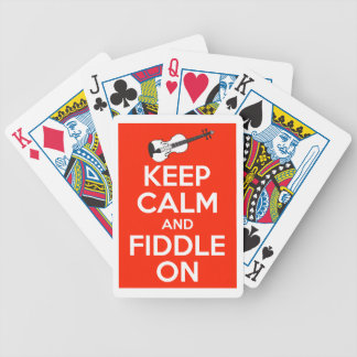 Keep Calm and Fiddle On Red Bicycle Playing Cards
