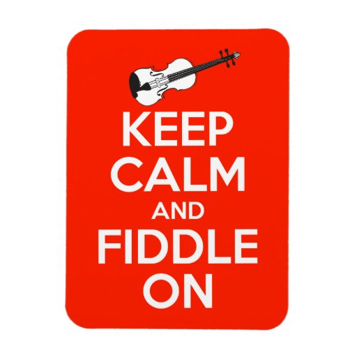Keep Calm and Fiddle On Red Rectangular Photo Magnet