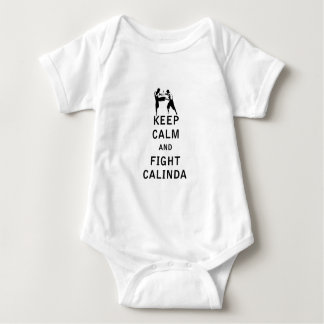 Keep Calm and Fight Calinda Baby Bodysuit