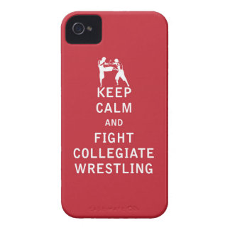 Keep Calm and Fight Collegiate Wrestling iPhone 4 Case-Mate Case