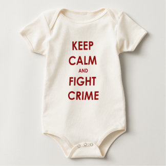 Keep calm and fight crime baby bodysuit