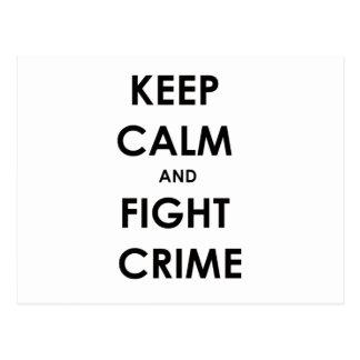 Keep calm and fight crime postcard
