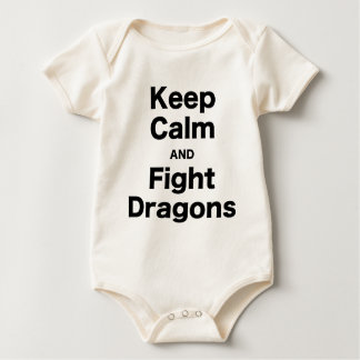 Keep Calm and Fight Dragons Baby Bodysuit