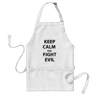 Keep Calm and Fight Evil Adult Apron