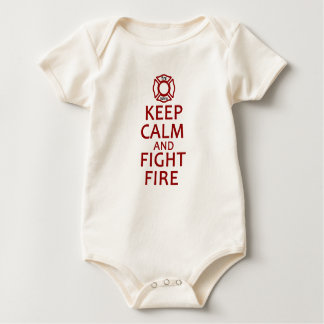 Keep Calm and Fight Fire Baby Bodysuit