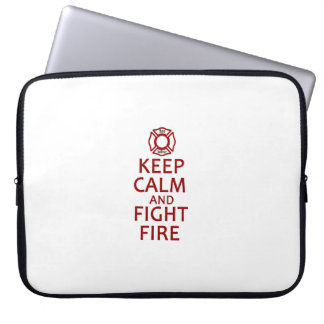Keep Calm and Fight Fire Laptop Computer Sleeve