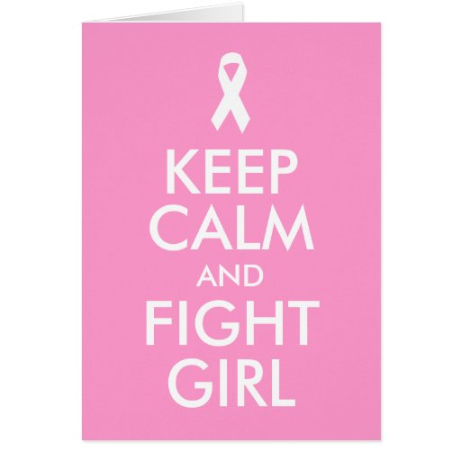 Keep Calm and Fight Girl Card