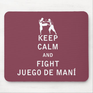 Keep Calm and Fight Juego de Mani Mouse Pad
