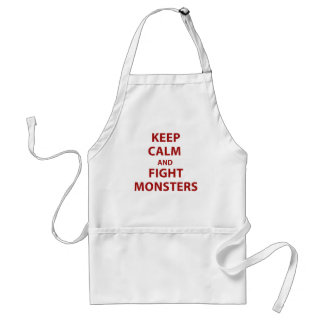 Keep Calm and Fight Monsters Adult Apron