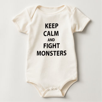 Keep Calm and Fight Monsters Baby Bodysuit