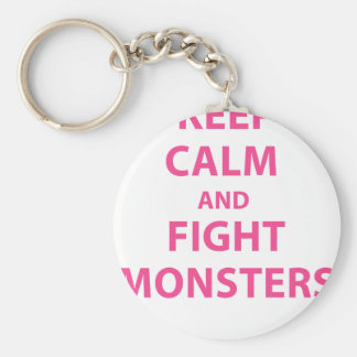 Keep Calm and Fight Monsters Keychain