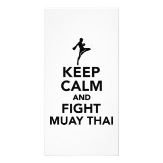 Keep calm and fight Muay Thai Card