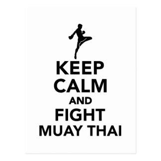 Keep calm and fight Muay Thai Postcard