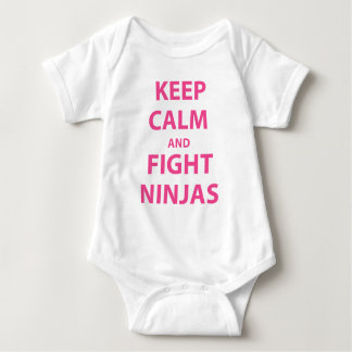 Keep Calm and Fight Ninjas Baby Bodysuit