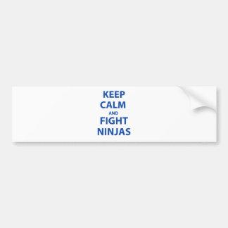 Keep Calm and Fight Ninjas Car Bumper Sticker