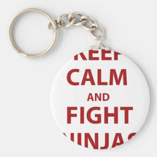Keep Calm and Fight Ninjas Keychain