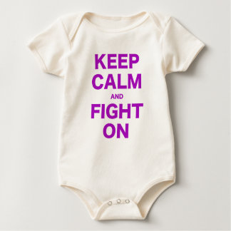 Keep Calm and Fight On Baby Bodysuit