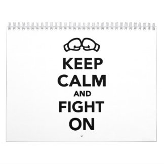Keep calm and fight on Boxing Calendar