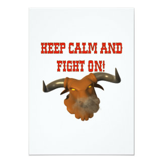 Keep Calm And Fight On Card
