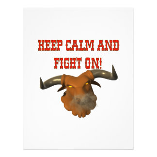 Keep Calm And Fight On Flyer Design