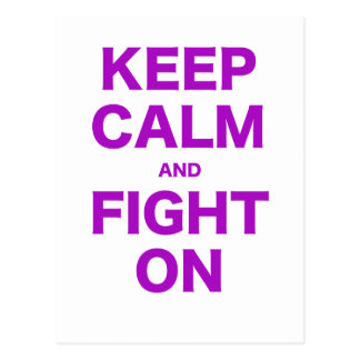 Keep Calm and Fight On Postcard