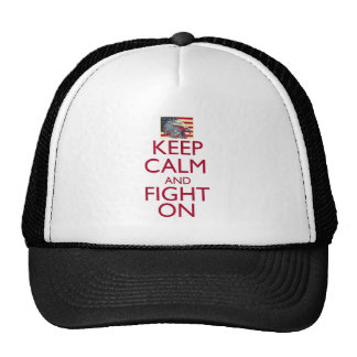 Keep Calm and Fight On Trucker Hat