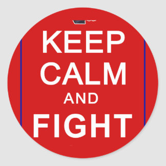 Keep Calm and Fight On Womens Rights Classic Round Sticker