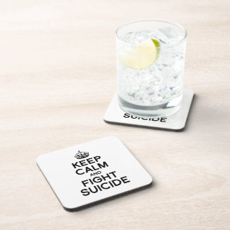 KEEP CALM AND FIGHT SUICIDE BEVERAGE COASTERS
