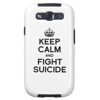 KEEP CALM AND FIGHT SUICIDE GALAXY SIII CASE