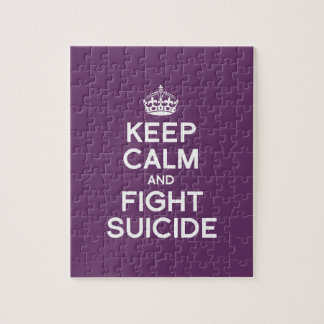 KEEP CALM AND FIGHT SUICIDE JIGSAW PUZZLE