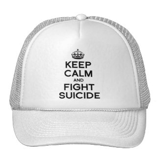 KEEP CALM AND FIGHT SUICIDE MESH HATS