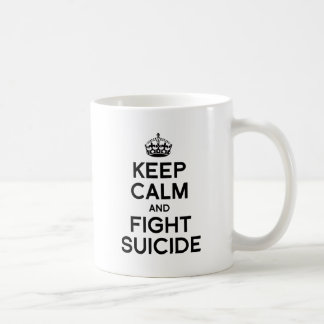 KEEP CALM AND FIGHT SUICIDE CLASSIC WHITE COFFEE MUG