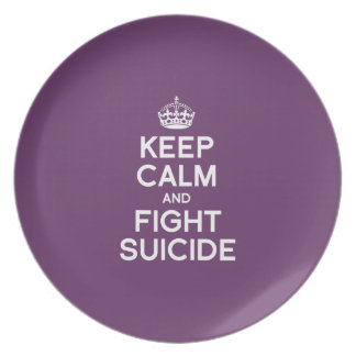 KEEP CALM AND FIGHT SUICIDE PLATE