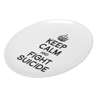 KEEP CALM AND FIGHT SUICIDE PLATES