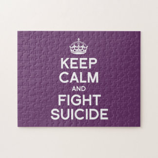 KEEP CALM AND FIGHT SUICIDE PUZZLES