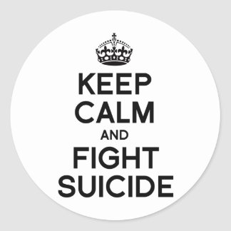 KEEP CALM AND FIGHT SUICIDE STICKERS