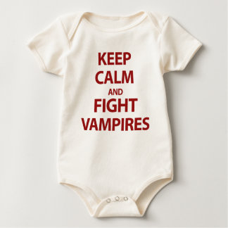 Keep Calm and Fight Vampires Baby Bodysuit