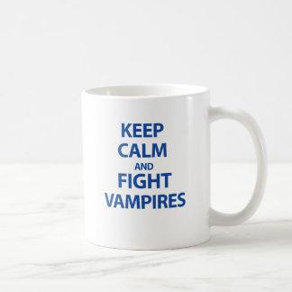 Keep Calm and Fight Vampires Coffee Mug