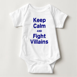 Keep Calm and Fight Villains Baby Bodysuit