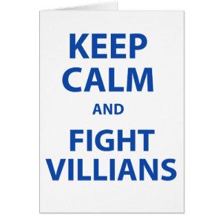 Keep Calm and Fight Villians Card