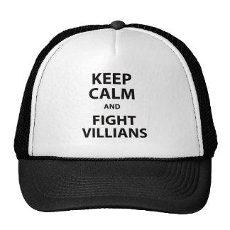 Keep Calm and Fight Villians Mesh Hats