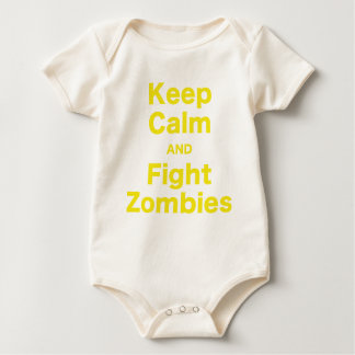 Keep Calm and Fight Zombies Baby Bodysuit