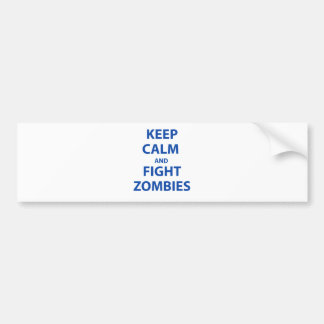 Keep Calm and Fight Zombies Car Bumper Sticker